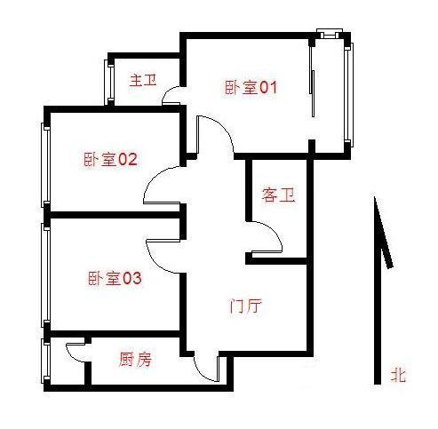 【朝阳区双桥八通线艺水芳园3居室】自如网