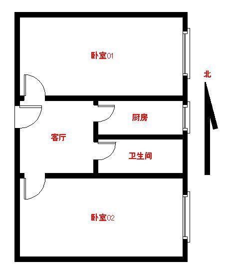 【朝阳区红庙6号线红庙北里2居室】自如网
