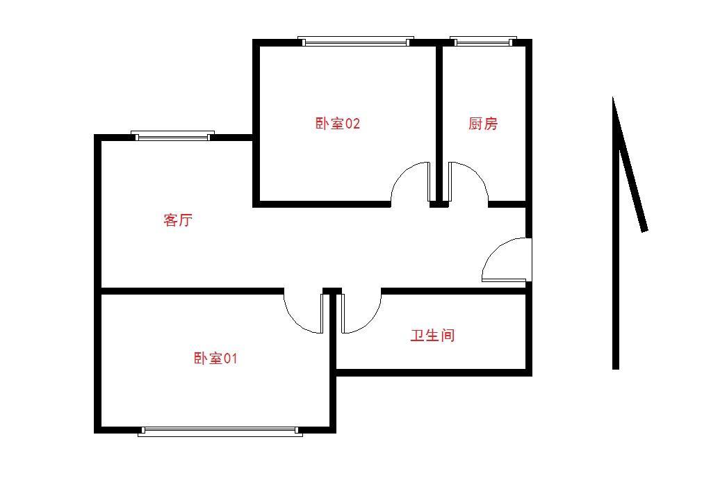 13x7米单间房屋设计图