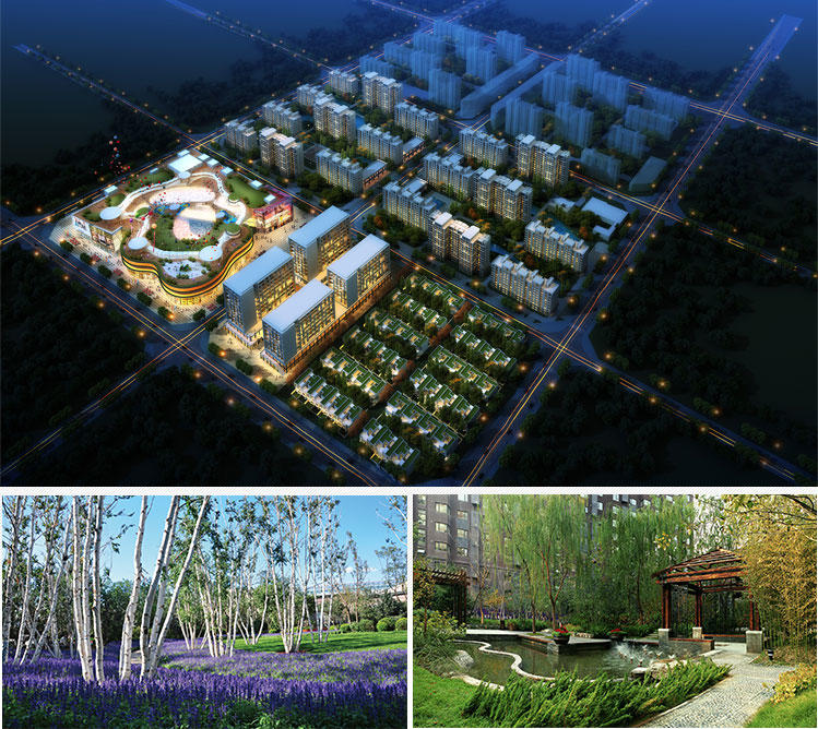 中粮万科长阳半岛 是由中粮,万科两大公司联手打造的京西百万平米